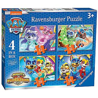 Ravensburger Paw Patrol Mighty Pups 4 in a Box Jigsaw Puzzles