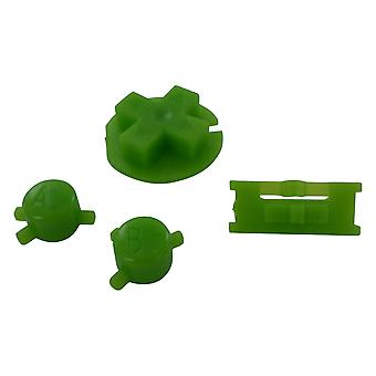 Replacement button set a b d-pad power switch mod for nintendo game boy color - green | zedlabz