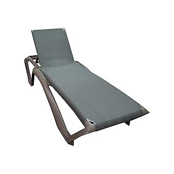 Resol Marina Garden Sun Lounger Bed - Adjustable Reclining Outdoor Summer Furniture - Dark Brown