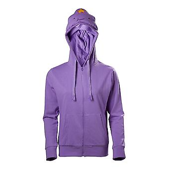 Adventure Time Lumpy Space Princess Full Zipper Hoodie Female X-Large Purple