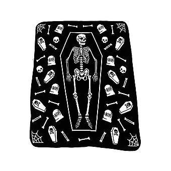 Sourpuss Clothing Skeleton Blanket