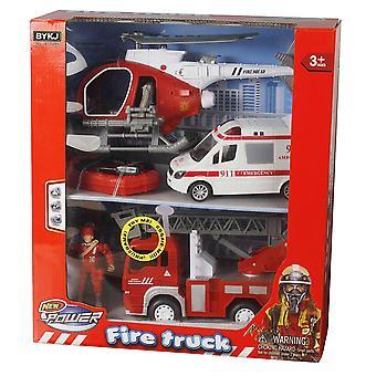Lights & Sounds Fire Rescue Team Vehicles