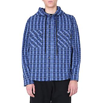 Off-white Omga125f20fab0014501 Männer's blaue Baumwolle Shirt