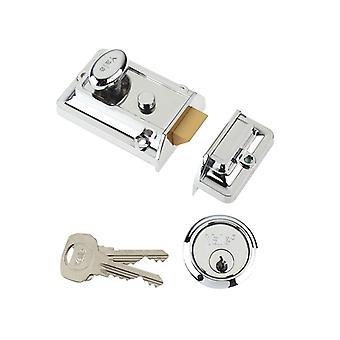 Yale Locks P77 Tradicional Nightlatch 60mm Backset Chrome Finish Visi YALP77CH