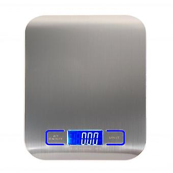 Digital Multi Function Food Kitchen Scale - Stainless Steel, Platform With Lcd