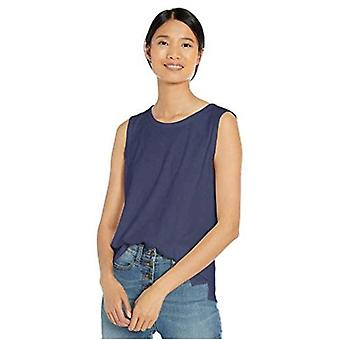 Merkki - Goodthreads Women's Pesty Jersey Puuvilla Crewneck Lihas T-paita, Indigo, X-Small