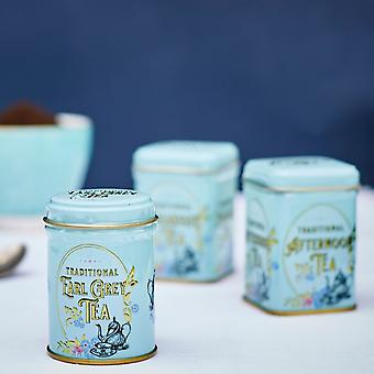 Pacote de presente de mini lata vitoriana vintage