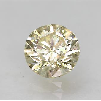 Certified 0.57 Carat K VS2 Round Brilliant Enhanced Natural Diamond 5.05mm 3VG