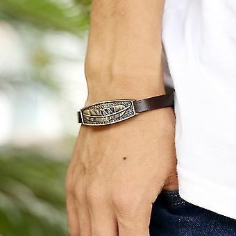 Punk Metal Soft Leather Bracelet Vintage Leather Bracelet For Men