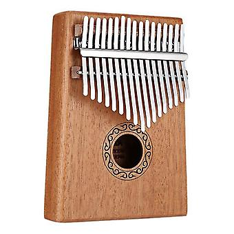 Solid Wood Thumb Finger Piano/sanza Mbira Calimba Spelen met Guitar Wood Musical