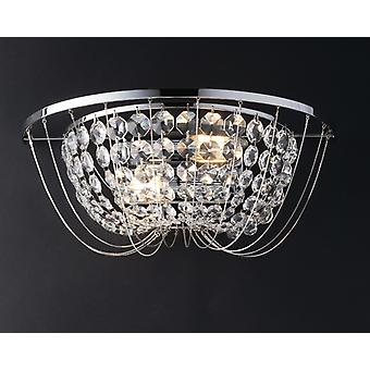 Fan Europe Vienna - Crystal K9 Flush Wall Light, Chrome, E14