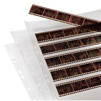 Hama | mâneci de stocare a fișierelor negative | fiecare având 7 benzi de 6 rame (24 x 36 mm), polipropilenă