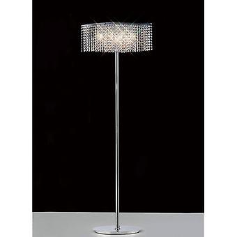 Fabio Floor Lamp 4 Bollen Gepolijst chroom / Kristal