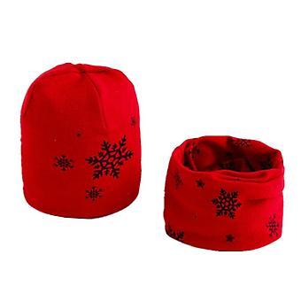 Set sciarpa cappello peluche di cotone, pecora dei cartoni animati, stelle cap inverno