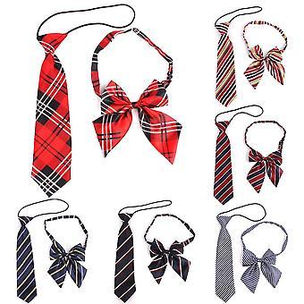 Cravate à cordes en caoutchouc Polyester Plaid Neck Tie For Suits Skinny Slim Men