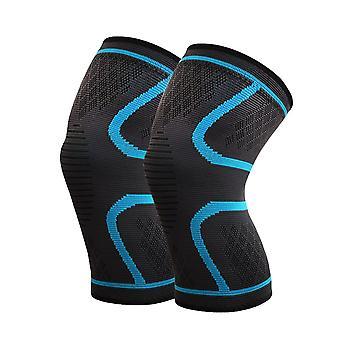 M tamaño azul longitud 27cm Nylon Latex Spandex profesional grado deportes rodilleras