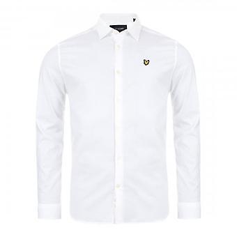 Lyle & Scott White Poplin Long Sleeve Shirt LW1115V