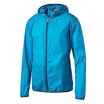 Puma Mens Hooded Lightweight Windrunner Packable Blue Jacket 513787 03 A22D