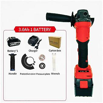 Cordless Rechargeable Brushless Electric Angle Grinder