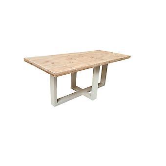 Wood4you - Esstisch Miami Gerüstholz 220Lx78Hx100D cm weiß