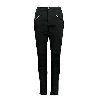Rachel Hollis Ltd Women's Jeans Solid Moto Style Black A368012