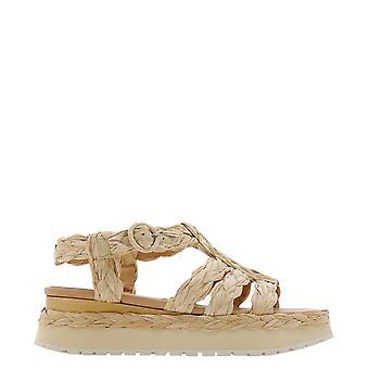 Paloma Barceló Uruburafianatural Women's Beige Canvas Sandals