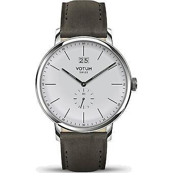 VOTUM - Reloj Unisex - VINTAGE - VINTAGE - V09.10.11.05 - correa de cuero - gris-marrón