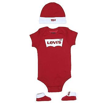 Levi's baby 3 ks červená romper darčeková súprava ll0019-r86