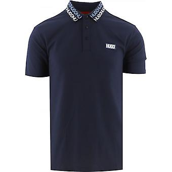 HUGO Navy Damago Polo Shirt