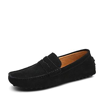 Loafers Soft Moccasins, Aidot nahkakengät Miehet, Lämmin ja Asunnot Ajokengät