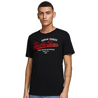 Jack & Jones Mens Jjelogo Short Sleeve O-Neck T Shirt