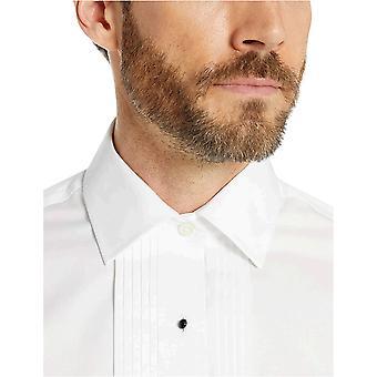 Merkki - Buttoned Down Men's Slim Fit Bib-Front Tuxedo Shirt, Supima Co...
