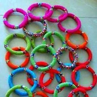 Maasai Beaded Cuff Bracelet African Handmade Multi Strand Arm Bracelet