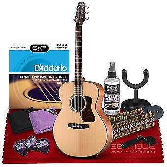 Walden g550re natura grand auditorium acoustic-electric guitar with armrest, solid spruce top, rosewood fingerboard  bundle includes gig ps01063