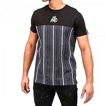 Kings Will Dream Moffane Black Vertical Striped Jersey T-shirt
