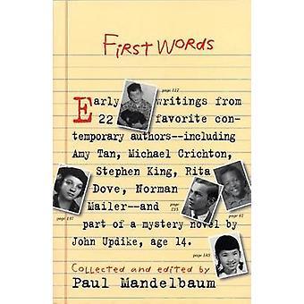 First Words by Paul Mandelbaum - 9781565122727 Book
