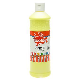 Scola AM600/20 Artmix Ready-mix Paint 600ml - Lemon