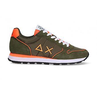 Running Sun68 Tom Nylon Fluo Suede Military Green Sneaker Us21su01 Z31102