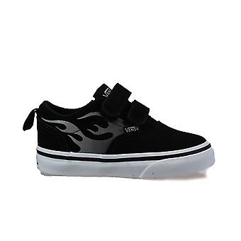 Vans TD Doheny V Black/White Suede Leather Boys Rip Tape Sneakers