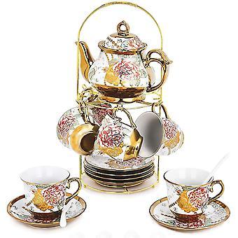 20 Piece European Ceramic Tea Set