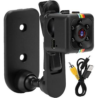 Mini Spy versteckte Kamera tragbare kleine HD Nanny Cam 1080P HD Bewegungserkennung Nachtsicht perfekte Innen versteckt Überwachungskamera (schwarz)