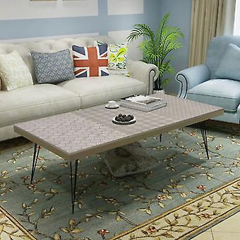 vidaXLコーヒーテーブル120x60x38 cmグレー