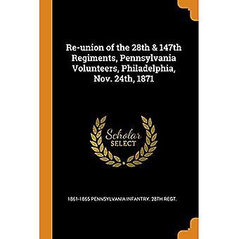 Re-Union of the 28th & 147th Regiments, Pennsylvania Volunteers, Philadelphia, Nov. 24th, 1871