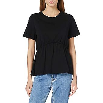 Bare ONLANDREA S/S Detalj T-skjorte Jrs, Svart, L Kvinne