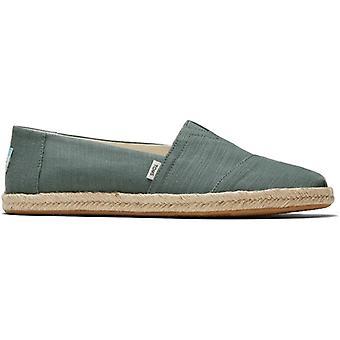 TOMS Alpargata Rope Mens Cotton Slip-on Shoes Green
