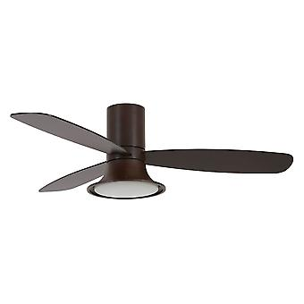 DC ceiling fan Flusso Bronze with LED and remote
