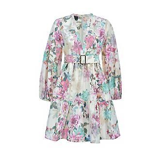 Pinko Emancipato Taffeta Multicolored Dress