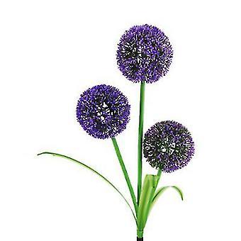 1Pcs purple solar waterproof simulation dandelion lawn light, 3led garden landscape lamp az18622