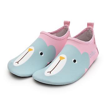 Children Beach Shoes Cartoon Bear Snorkeling Swim Socks Anti-slip Home Barefoot Kids Slippers 03
