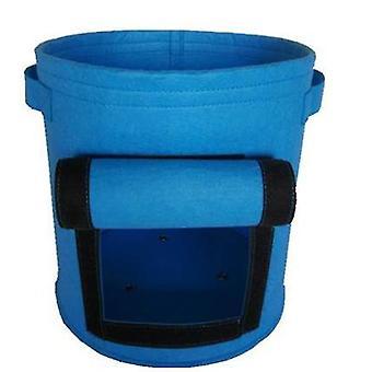 S 25d * 30h בדים כחולים לא ארוגים לטיפוח צמחים ושקיות שתילת ירקות, דליים לשתילת גינה az3282